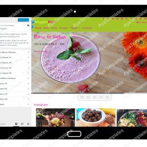 VeganPro Customizing Widgets