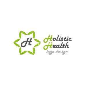 Holistic-health-logo-design-green-version