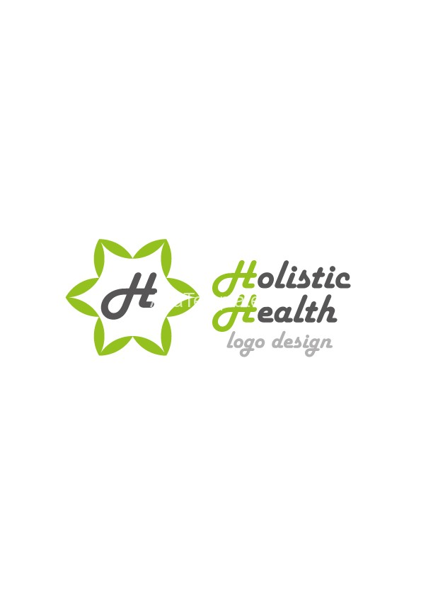 Holistic-health-logo-design-green-version