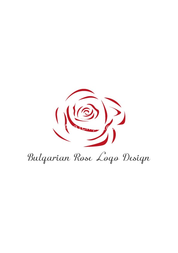 Bulgarian Rose Logo Design Aya Templates