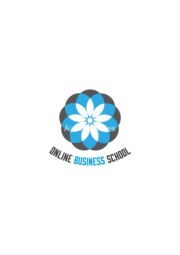 Online-business-school-logo-design