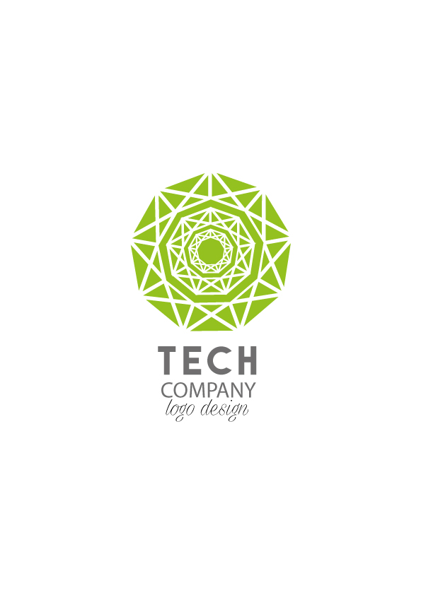 Tech company logo design aya templates for Design teich