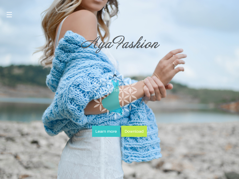 AyaFashion-Premium-Html-css-one-page-site-mockup1