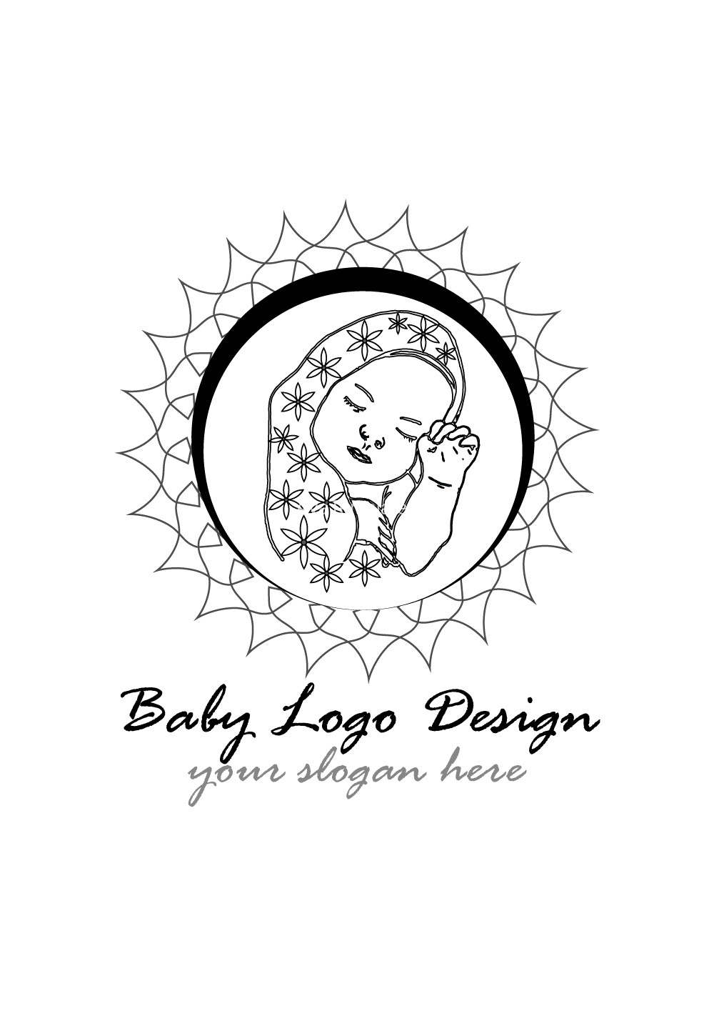 Baby-logo-design-Black-and-white-version