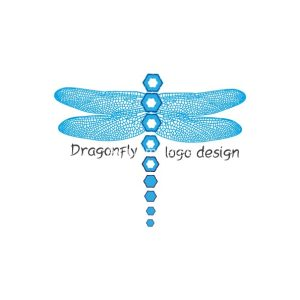 Blue-dragonfly-logo-design