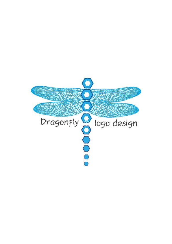 blue dragonfly logo design  u2013 aya templates