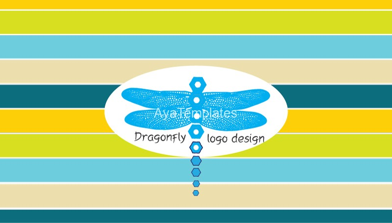 Blue-Dragonfly-logo-design-Business-card-front