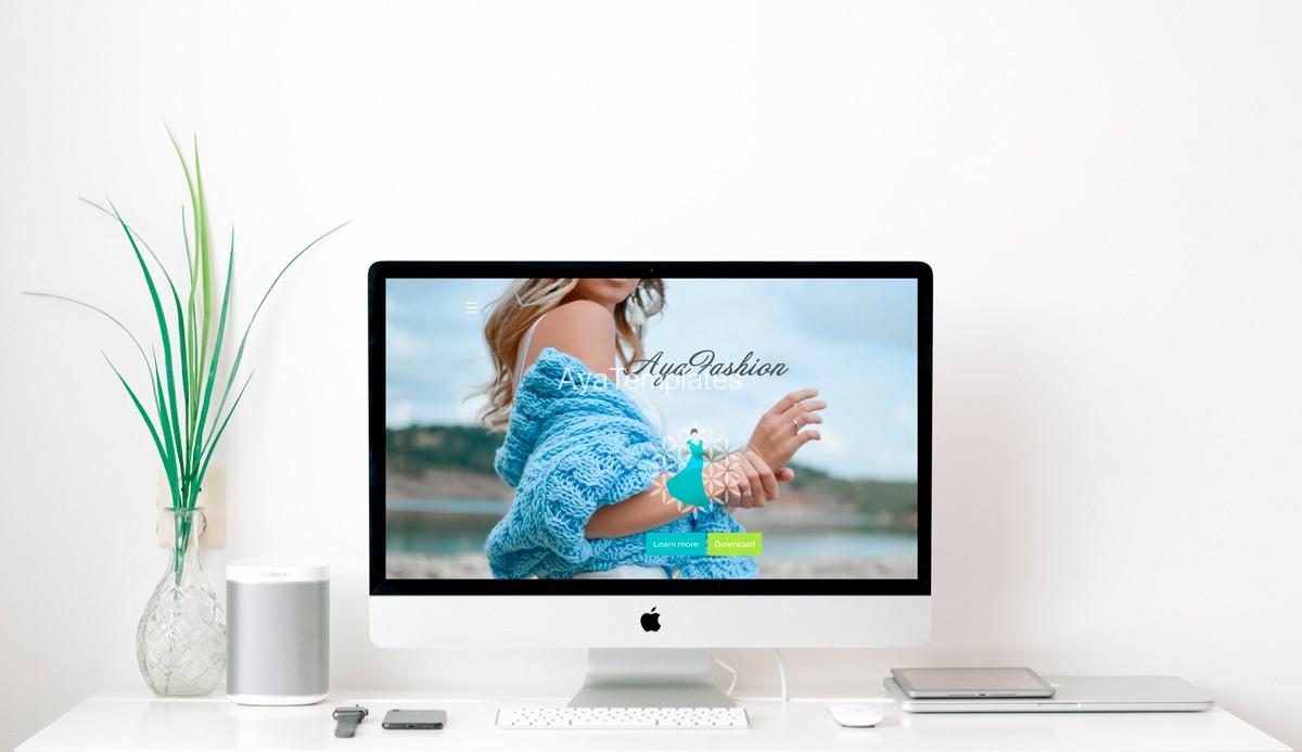 premium html-css-template-screen-mockup-AyaFashion