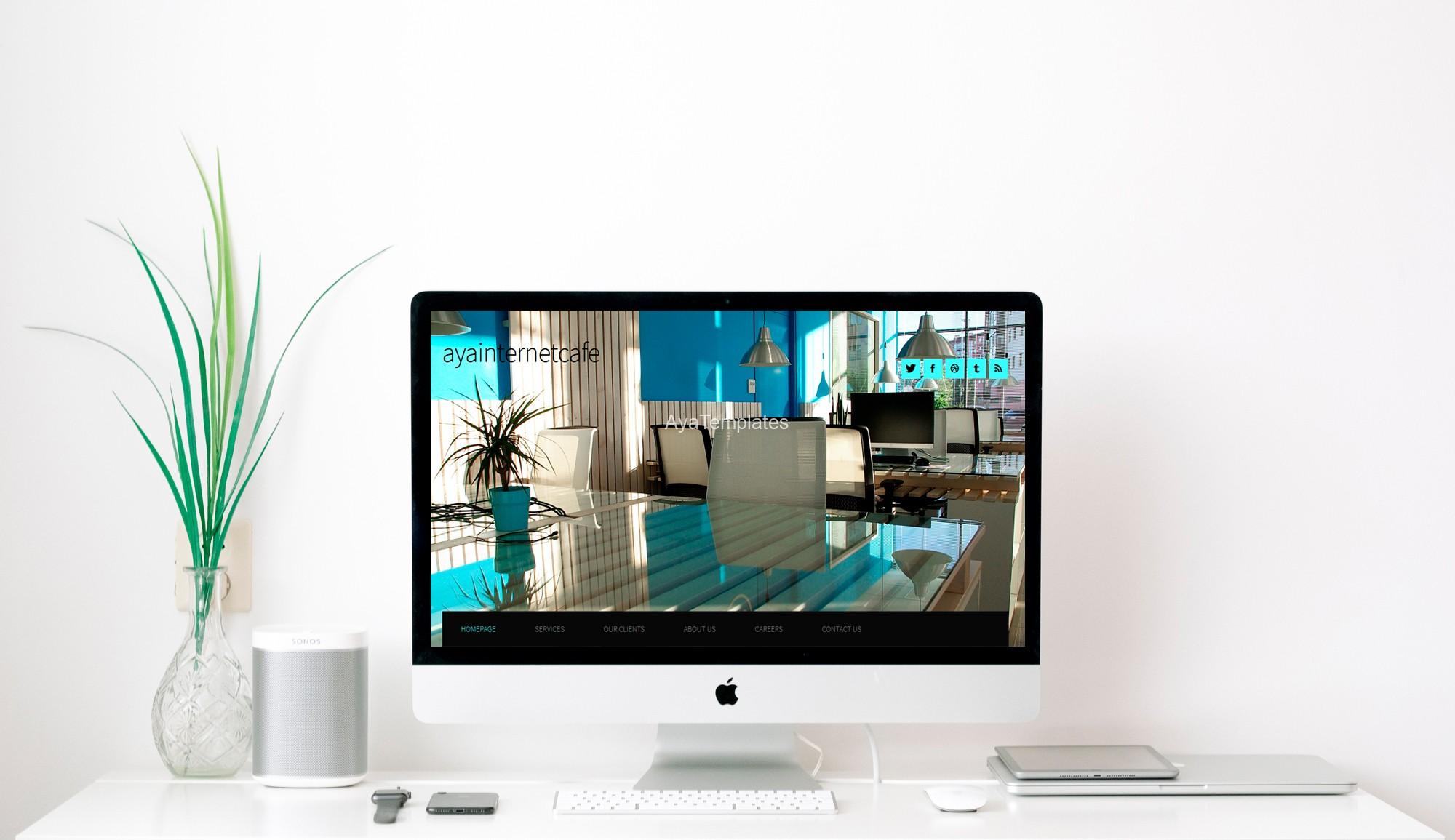 html-css-template-screen-mockup-Css-designed-site-AyaInternetCafe