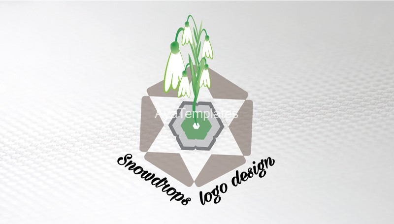 snowdrops-logo-design-businesscard-front