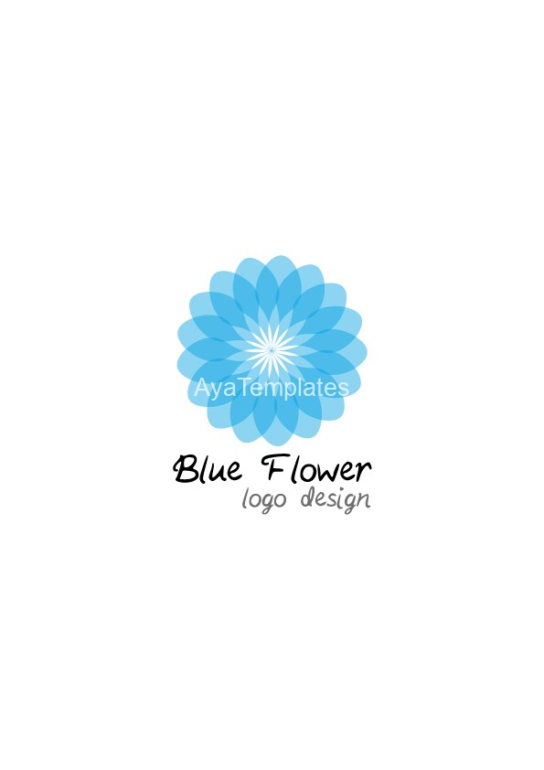 Blue-Flower-logo-design