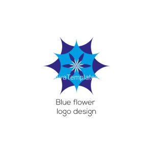 Blue flower logo design