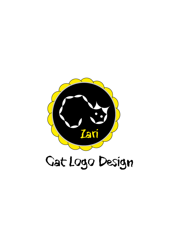 Cat-Zari-logo-design