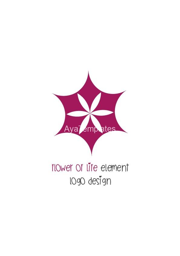 flower of life element logo design aya templates. Black Bedroom Furniture Sets. Home Design Ideas