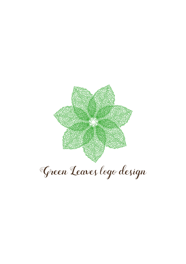 Green-leaves-logo-design