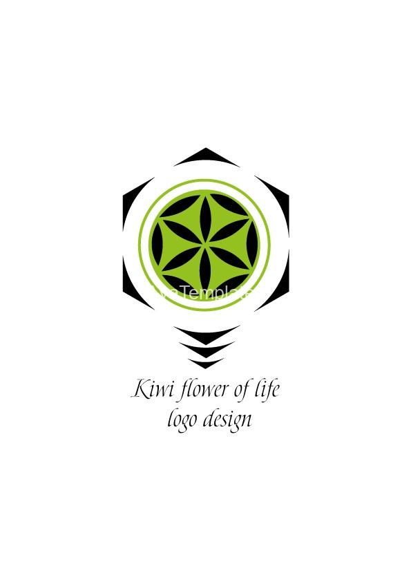 kiwi flower of life logo design aya templates. Black Bedroom Furniture Sets. Home Design Ideas