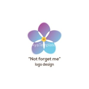 Not-forget-me-flower-logo-design