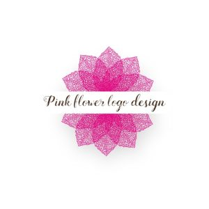 Pink-flower-logo-design