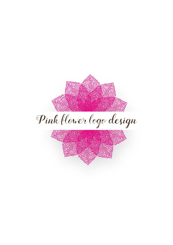 Pink-flower-logo-design