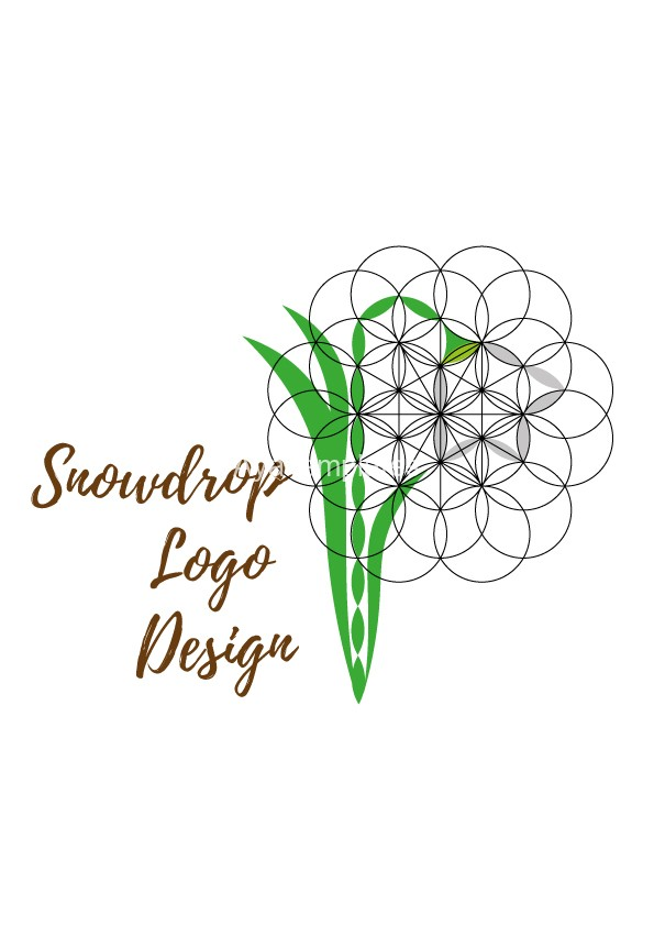 Snowdrop-Logo-design-flower-of-life-element