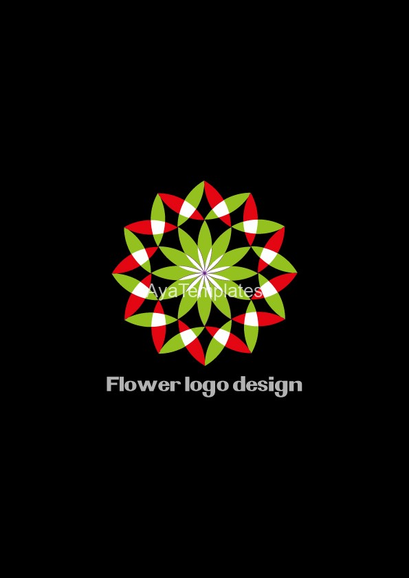 flower-logo-design-black-background