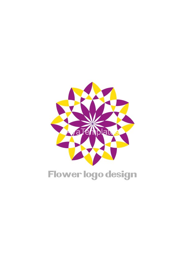flower-logo-design-purple