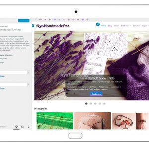 AyaHandmadePro-customizing-homepage-settings