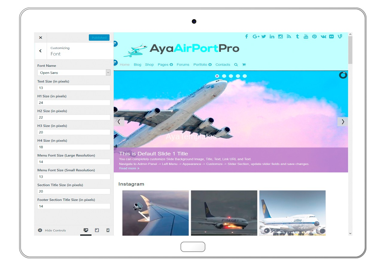 ayaairportpro-customizing-font