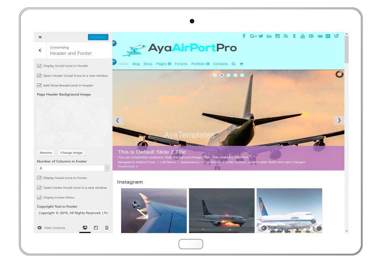 ayaairportpro-customizing-header-and-footer