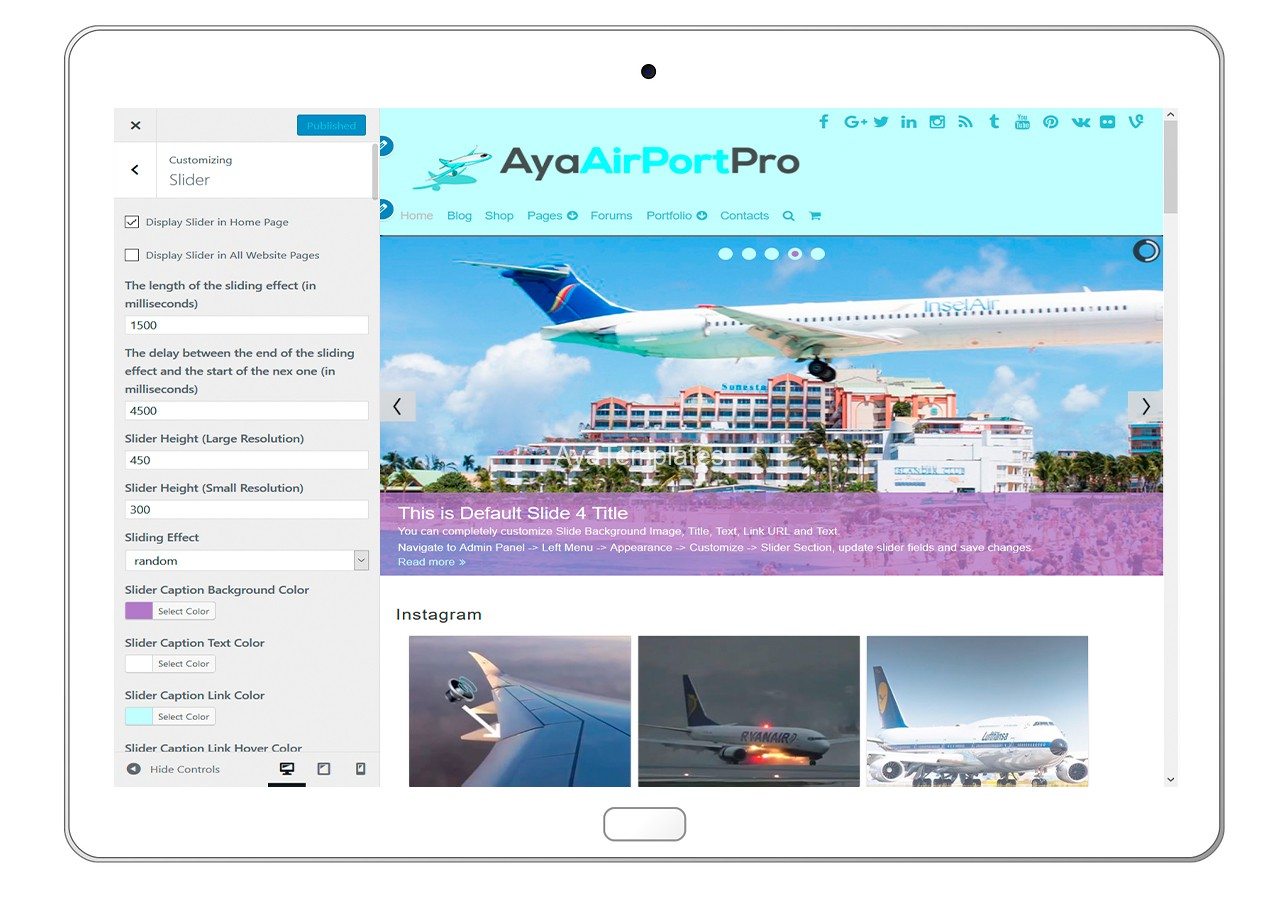 ayaairportpro-customizing-slider
