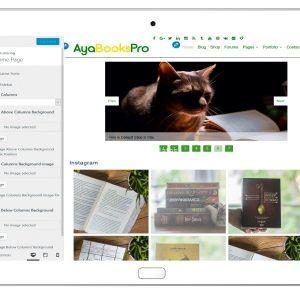 ayabookspro-customizing-home-page