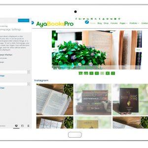 ayabookspro-customizing-homepage-settings