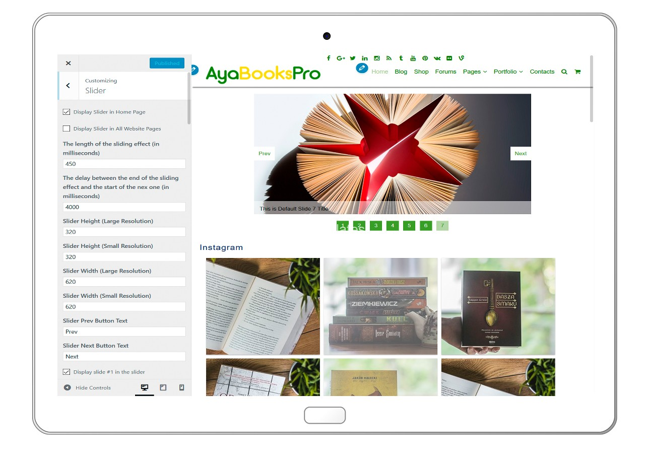 ayabookspro-customizing-slider