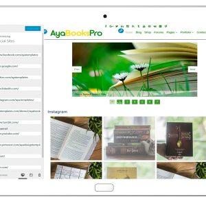 ayabookspro-customizing-social-sites