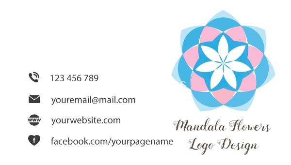 mandala-flower-logo-design-and-brand-identity-business-card-back