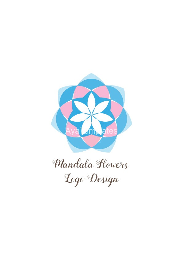 Mandala-flowers-logo-design