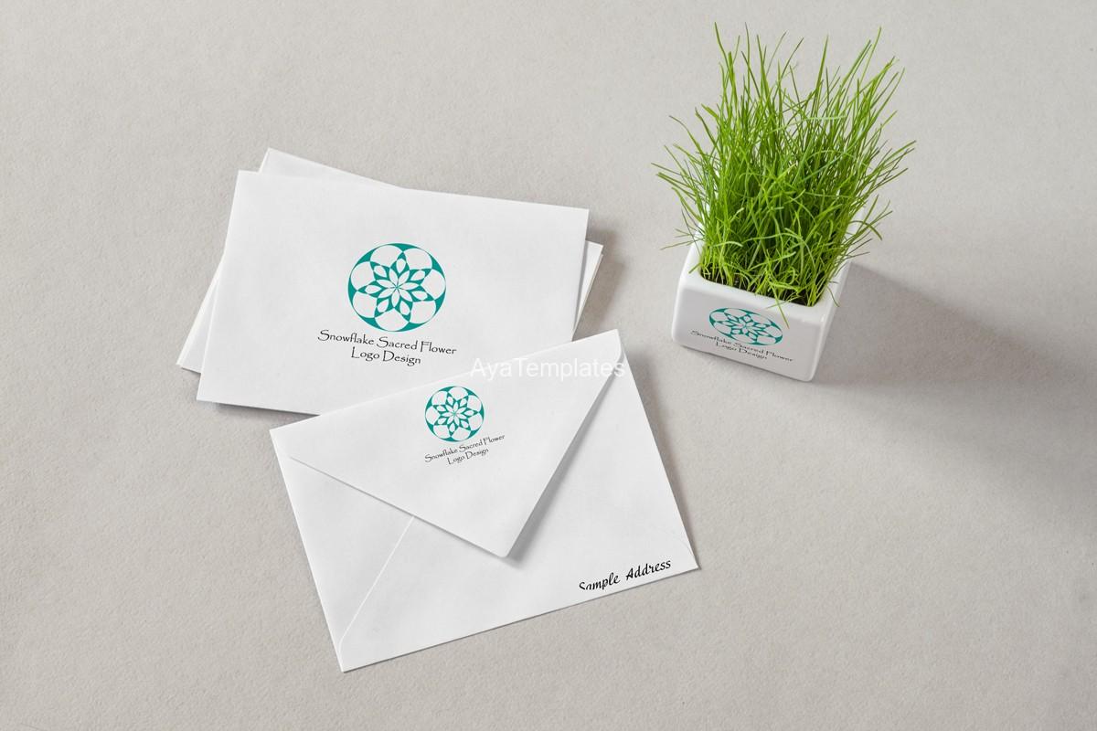 Snowflake-sacred-flower-logo-and-branding-mpckup2
