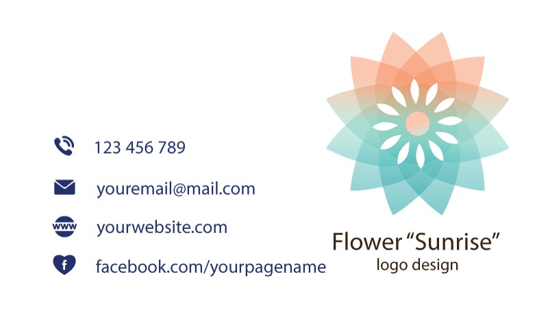 flower-sunrise-business-card-back