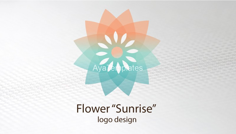 flower-sunrise-business-card-front