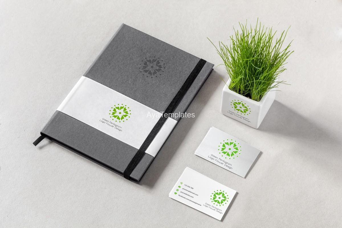 green-pentagram-logo-design-and-brand-identity-mockup2