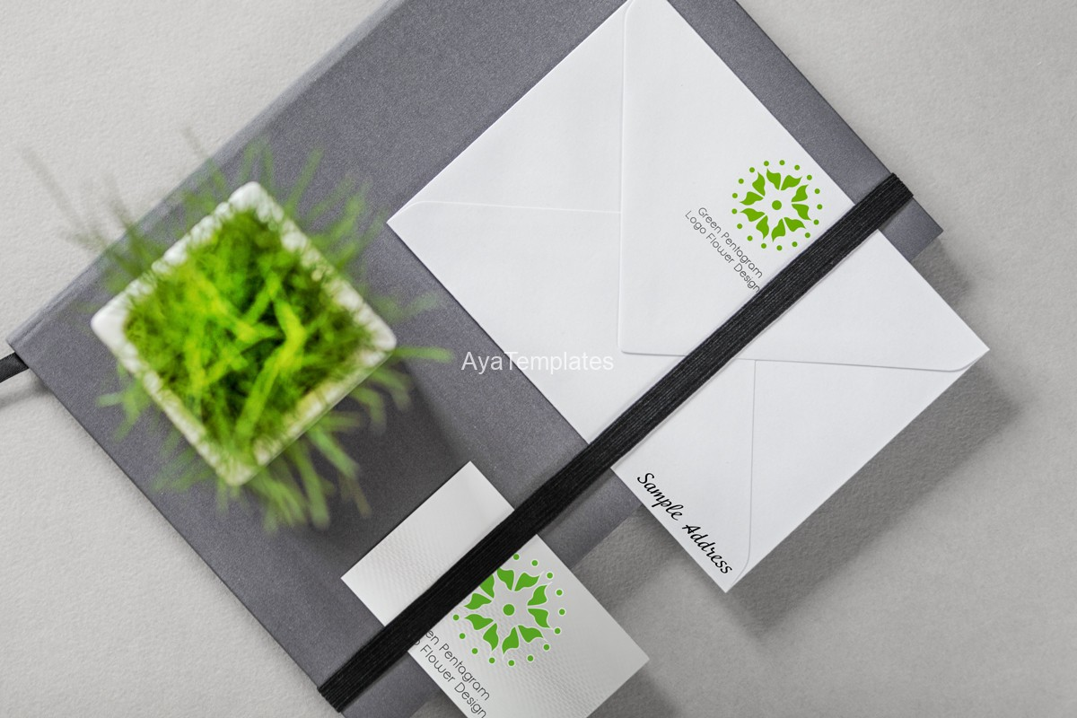 green-pentagram-logo-design-and-brand-identity-mockup3