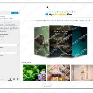 ayamedicinepro-customizing-homepage-settings