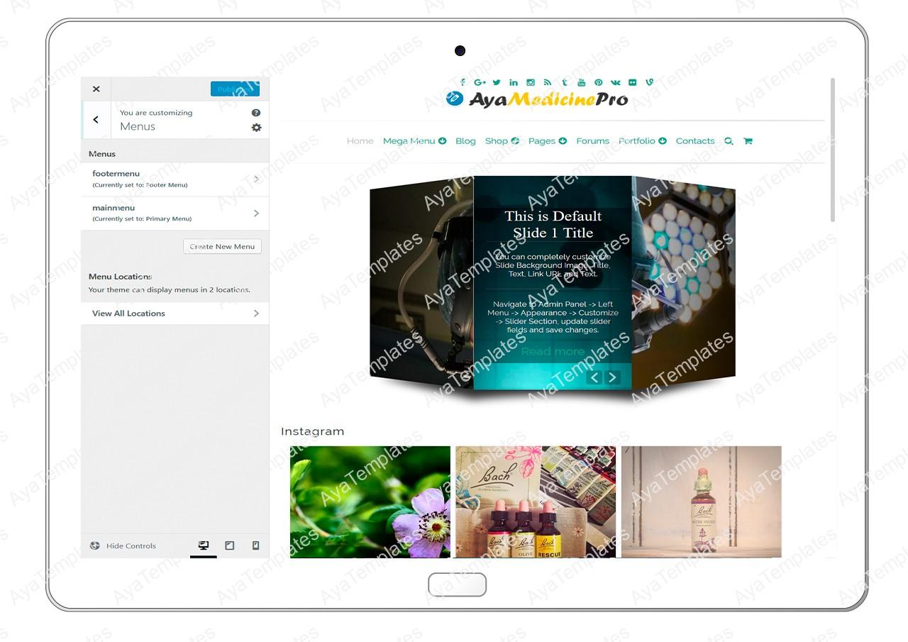 ayamedicinepro-customizing-menus