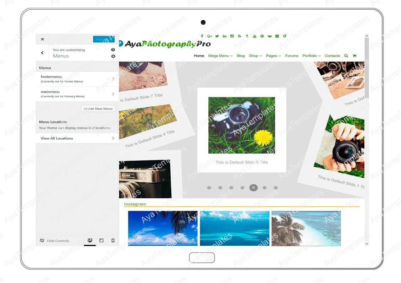 ayaphotograpypro-customizing-menus