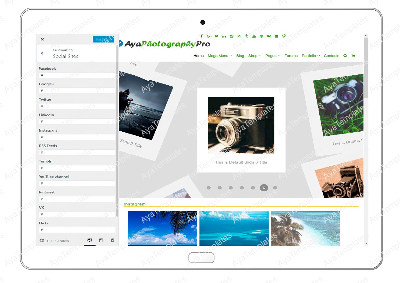 ayaphotograpypro-customizing-social-sites