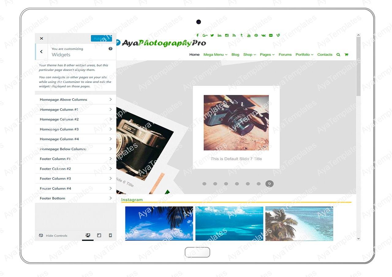 ayaphotograpypro-customizing-widgets