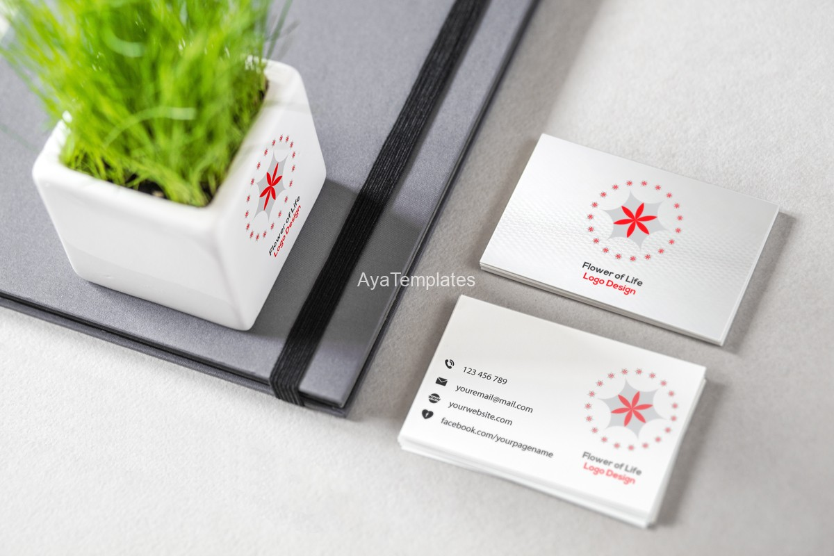 flower-of-life-red-leaves-logo-and-brand-idientity-design-mockup3