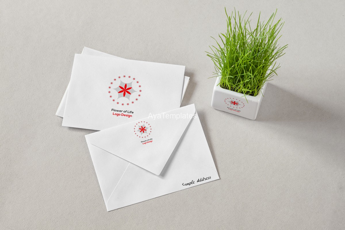 flower-of-life-red-leaves-logo-and-brand-idientity-design