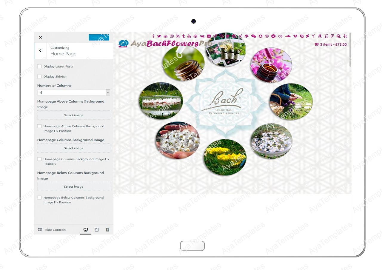 AyaBachFlowersPro-customizing-home-page