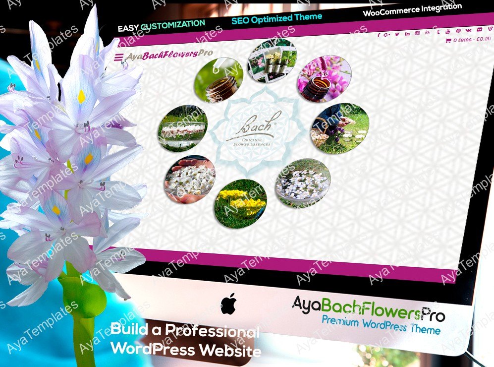 AyaBachFlowersPro-premium-wordpress-theme-mockup-collage